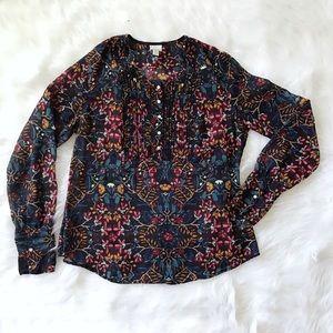 Converse one star floral shirt size medium